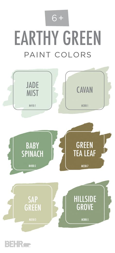 nature green paint color this earthy green color palette from behr is of