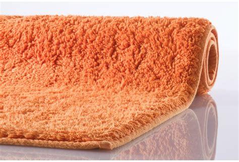 Badematten Nach Maß by Kleine Wolke Badematte Kansas Orange Reine Baumwolle