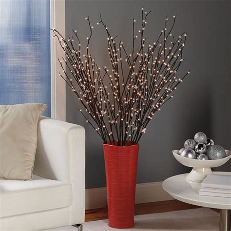 battery powered pre lit willow branches at brookstone buy now