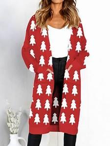 Weihnachtsbaum Rot Weiß : rot wei weihnachtsbaum taschen langarm l ssige cardigan strickjacke lange sweater weihnachten ~ Yasmunasinghe.com Haus und Dekorationen
