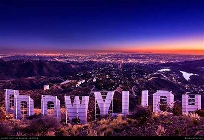 Hollywood Sign Call Curtain Angeles Los Megapixel