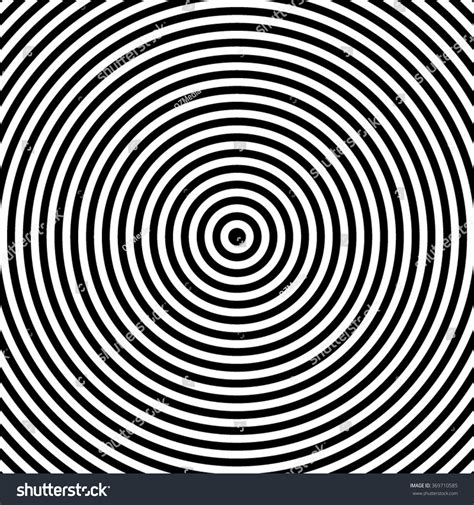Abstract White Circle Black Background by Black White Abstract Modern Concentric Circles Stock