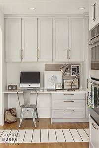 kitchen desk contemporary kitchen sophie burke design With what kind of paint to use on kitchen cabinets for office wall art decor