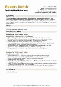 Residential Real Estate Agent Resume Samples Qwikresume