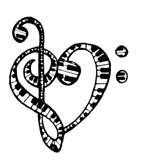 To download our free coloring pages, click on the heart page you'd like to color. Music Notes Coloring Pages - GetColoringPages.com