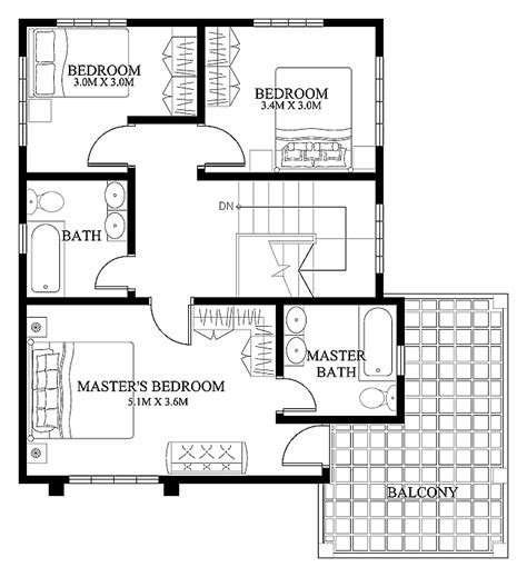 small modern floor plans mhd 2012004 eplans modern house designs small