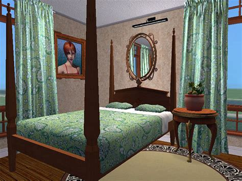 mod the sims white living curtain matching bedding