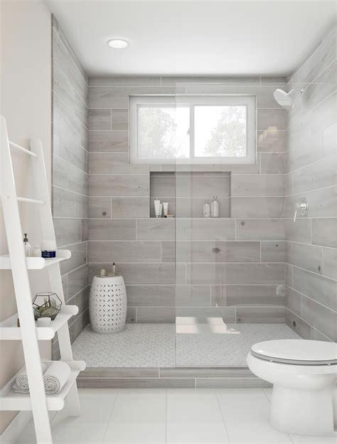bliss    gorgeous walk  shower ash gray tile