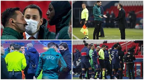 PSG, Istanbul Basaksehir players walk off after alleged ...