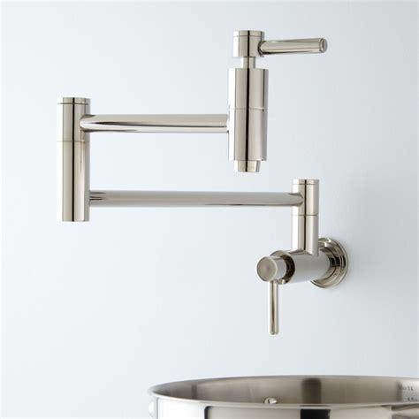 kitchen pot filler faucets contemporary retractable wall mount pot filler faucet
