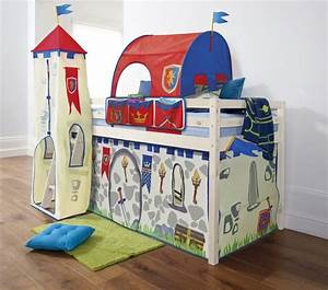 Details about Cabin Bed Mid Sleeper Pine Kids Bed 57 with ...