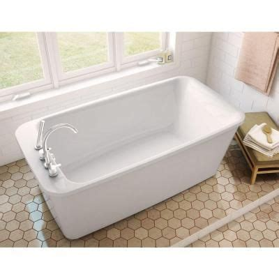 maax bathtubs home depot maax lounge 5 3 ft freestanding reversible drain bathtub