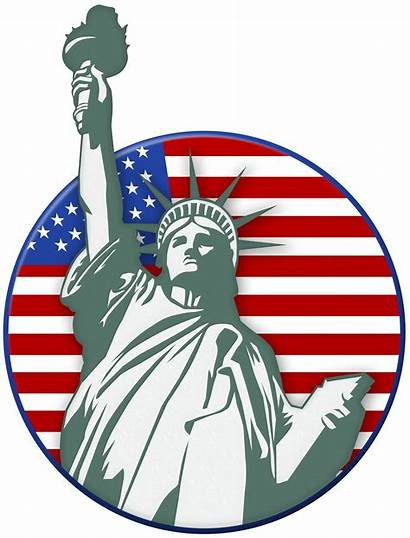 Liberty Statue Clip Usa Stamp American Clipart