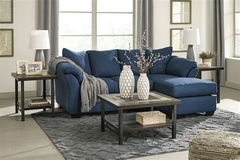 Living Room Design Blue Sofa by Darcy Blue Sofa Chaise Living Room Set By Signature Design