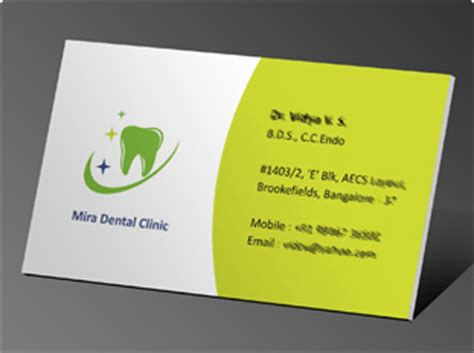 business card design  printing  physiotherapy clinic