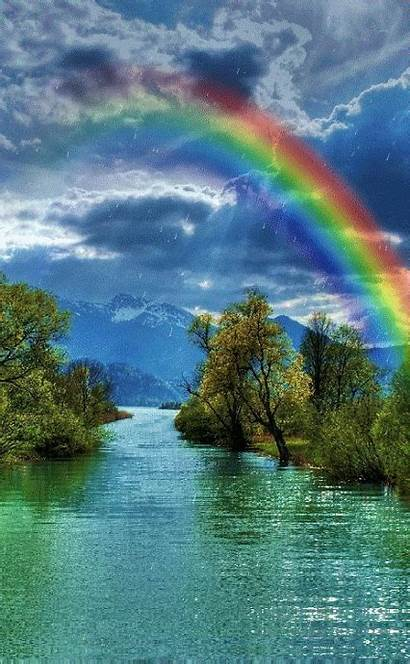 Water Animated Gifs Rainbow Natural Nature Awesome