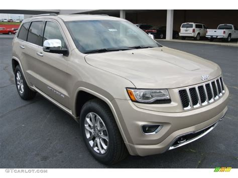light brown jeep 2014 cashmere pearl jeep grand cherokee overland 4x4