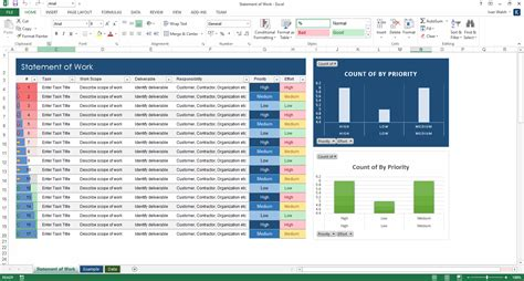 Excel Template Statement Of Work Ms Word Excel Template