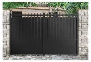 Portail En Aluminium : portail alu battant et coulissant adana roy ~ Melissatoandfro.com Idées de Décoration