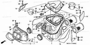 Honda Motorcycle 2001 Oem Parts Diagram For Air Cleaner