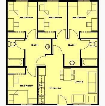 denah rumah minimalis  lantai  kamar tidur gambar