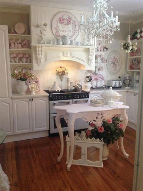 shabby chic kitchen cabinets ideas 50 sweet shabby chic kitchen ideas 2017 7905
