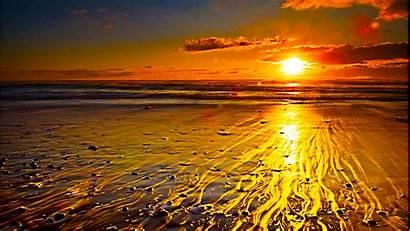Gold Melt Wallpapers Sunrise Beach Desktop Morning