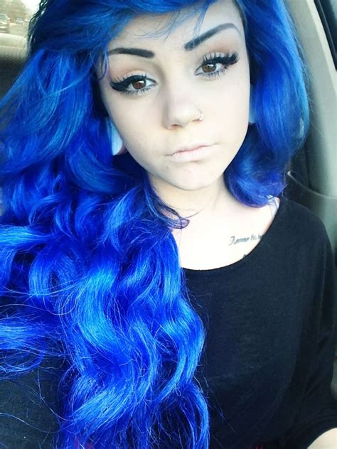 Ultimate Teal Ombre Hair Color Scene Hair Piercing