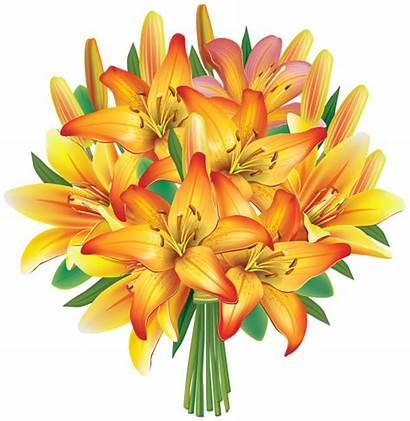 Bouquet Flower Flowers Yellow Clip Cartoon Clipart