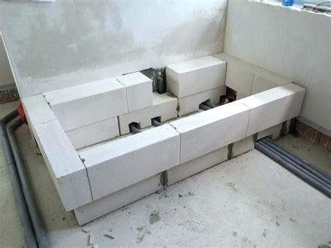 badewanne einbauen mit wannenträger badewanne einmauern ytong anleitung