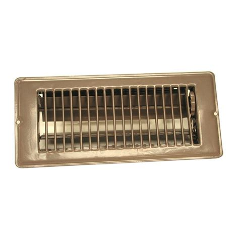 decor floor vents decor grates 4 in x 10 in wood natural oak louvered design flush mount floor register wlf410 n
