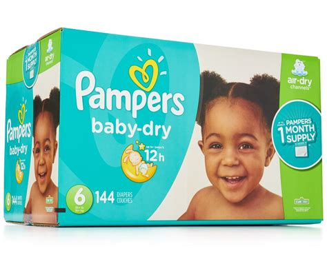 Pampers Baby Dry Diapers 144 Ct Size 6 Boxed