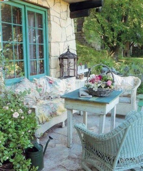 shabby chic patio furniture 27 shabby chic terrace and patio d 233 cor ideas shelterness