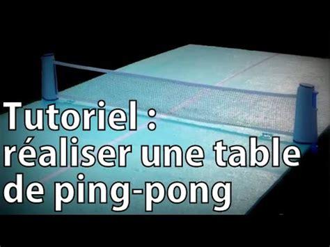 comment faire une table de ping pong tutoriel r 233 aliser facilement une table de ping pong