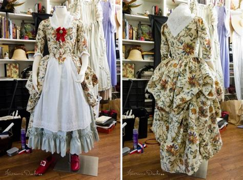 shabby chic curtain tutorial american duchess outfit for colonial williamsburg the gown 2 panels of waverly quot felicite