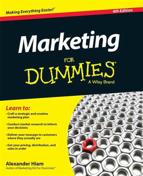 marketing for dummies by hiam paperback