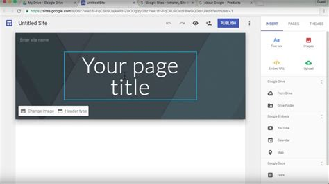 The New Google Sites  2016 Tutorial Youtube