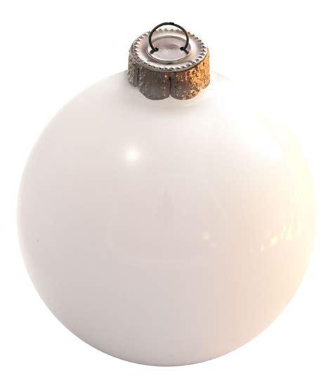 white glass ball christmas ornament