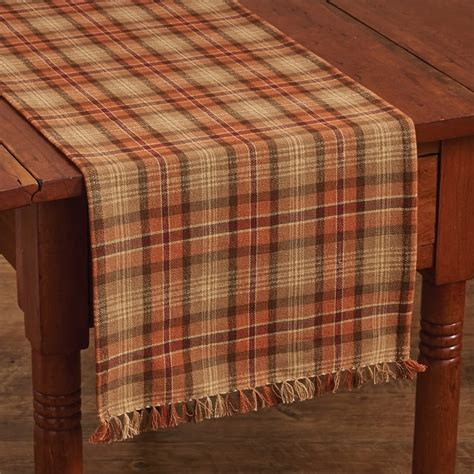 park designs table runner gather together plaid table runner 13 quot x 54 quot