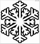 Snowflake Coloring Pages Winter Printable Christmas Easy Printables Simple Preschoolers Pattern Craft Template Tree sketch template