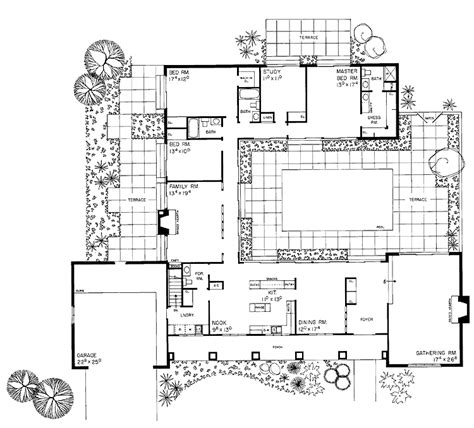 courtyard home plans courtyard plan house plans for the compound