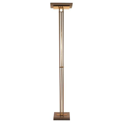 italian made halogen floor l torchiere brass and steel