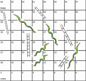free coloring pages of snakes and ladders With printable snakes and ladders template