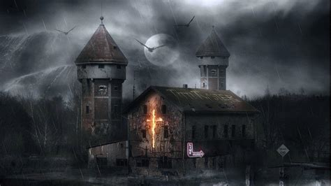Background Haunted House by Scary House Backgrounds Wallpaper Cave