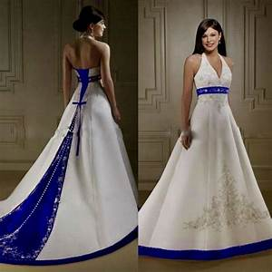 White And Royal Blue Wedding Dresses | www.pixshark.com ...