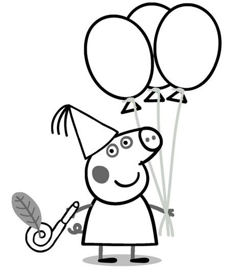 peppa pig  colorear  coloring pages  kids