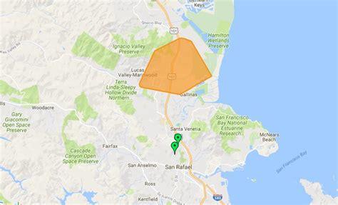 updated thousands lose power  novato san rafael area