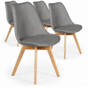 Chaise En Tissu Gris : chaise scandinave en tissu gris ericka lot de 4 pas cher scandinave deco ~ Teatrodelosmanantiales.com Idées de Décoration