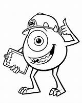 Coloring Monsters Pages University Mike sketch template