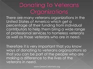 Donating to veterans organizations